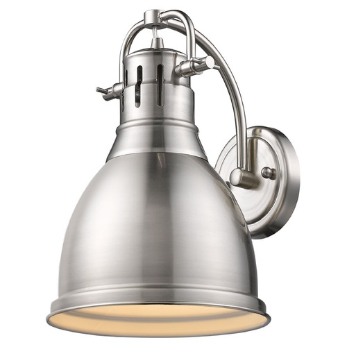 Golden Lighting Golden Lighting Duncan Pewter Sconce 3602-1W PW-PW