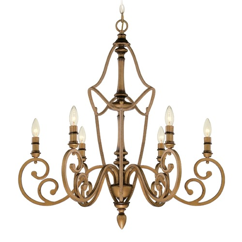 Designers Fountain Lighting Designers Fountain Isla Aged Brass Chandelier 85686-ABS