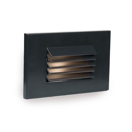 WAC Lighting LED Low Voltage Horizontal Louvered Step and Wall Light 4051-30BK
