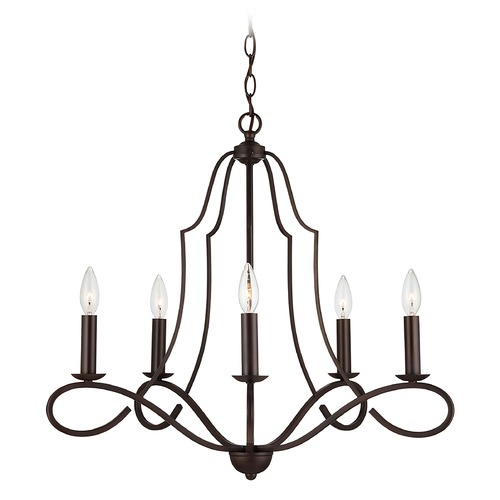 HomePlace by Capital Lighting HomePlace Cameron Bronze 5-Light Chandelier with 439551BZ