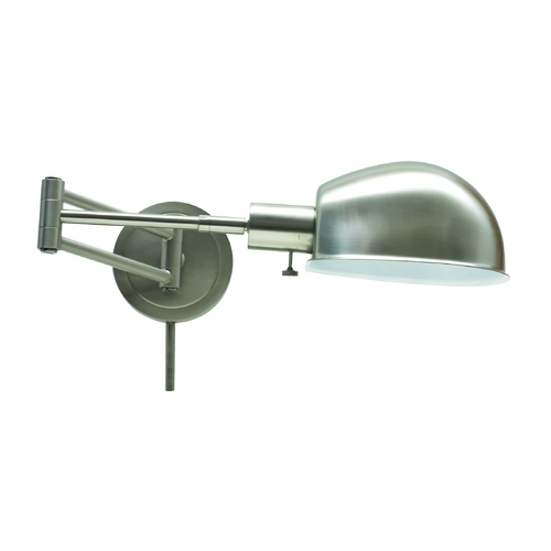 House of Troy Lighting Swing Arm Lamp in Satin Nickel Finish AD425-SN