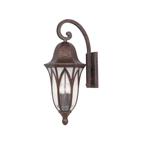 Designers Fountain Lighting Outdoor Wall Light with Clear Glass in Burnished Antique Copper Finish 20631-BAC