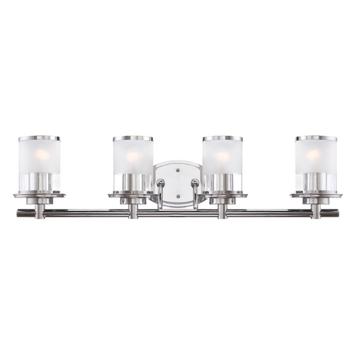 Designers Fountain Lighting Modern Bathroom Light with Clear Glass in Chrome Finish 6694-CH