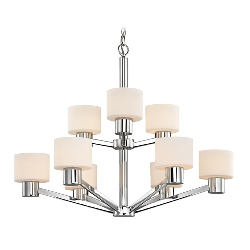 Design Classics Lighting Mai Chrome Chandelier 1031-26