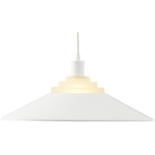 Dolan Designs Lighting Pendant with White Metal Shade 100-05