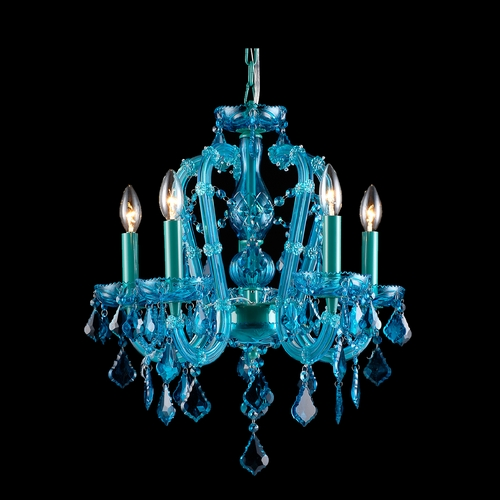 Avenue Lighting Avenue Lighting Ocean Drive Blue Crystal Chandelier HF1037-BLU