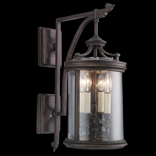 Fine Art Lamps Fine Art Lamps Louvre Bronze Outdoor Wall Light 538581ST