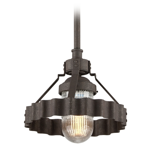Troy Lighting Troy Lighting Canary Wharf Burnt Siena Pendant Light with Fluted Shade F4243
