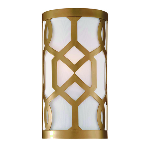 Crystorama Lighting Crystorama Lighting Jennings Aged Brass Sconce 2262-AG