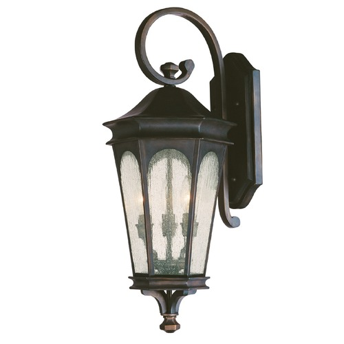 Capital Lighting Seeded Glass Outdoor Wall Light Bronze Capital Lighting 9382OB
