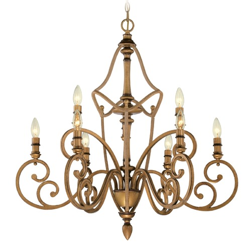 Designers Fountain Lighting Designers Fountain Isla Aged Brass Chandelier 85689-ABS