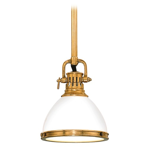 Hudson Valley Lighting Mini-Pendant Light with White Glass 2621-AGB