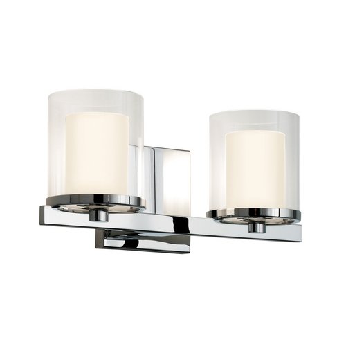Sonneman Lighting Modern Sconce Wall Light with Clear Glass in Polished Chrome Finish 3412.01