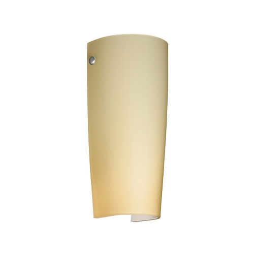 Besa Lighting Sconce Wall Light with Beige / Cream Glass in Satin Nickel Finish 7041VM-SN