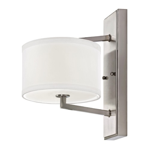 Dolan Designs Lighting Satin Nickel Sconce with Drum Shade 1886-09