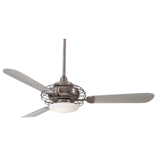 Minka Aire Ceiling Fan with Three Blades and Light Kit F601-BS/BN