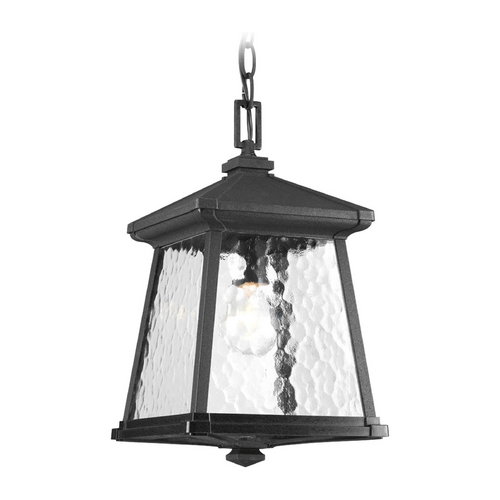 Progress Lighting Progress Outdoor Hanging Light with Clear Glass in Black Finish P5559-31