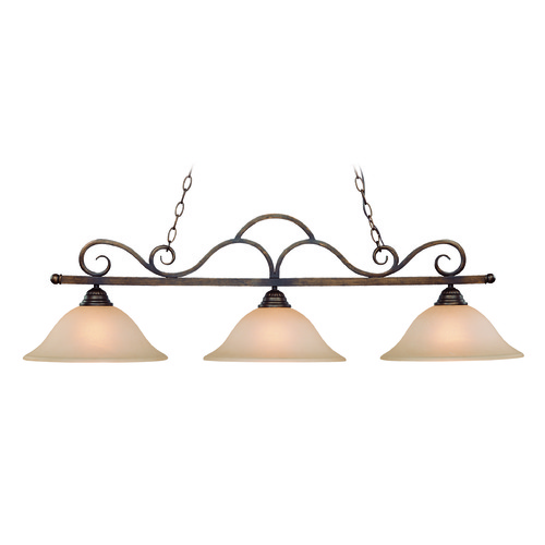 Jeremiah Lighting Jeremiah Gatewick Century Bronze Island Light with Bowl / Dome Shade 26043-CB