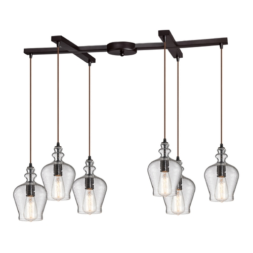 Elk Lighting Multi-Light Pendant Light with Clear Glass and 6-Lights 60066-6