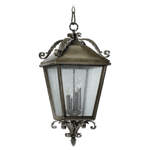 Quorum Lighting Quorum Lighting Rochelle Etruscan Sienna Outdoor Hanging Light 7911-4-43