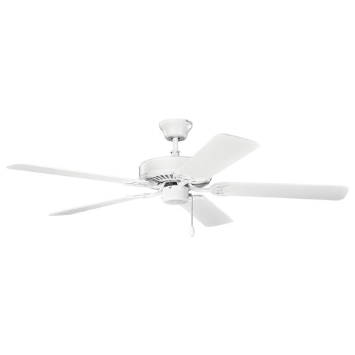 Kichler Lighting Kichler Lighting Basics Matte White Ceiling Fan Without Light 404MWH