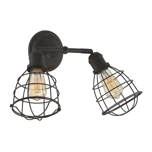 Savoy House Industrial Sconce Bronze Scout by Savoy House 8-4138-2-13