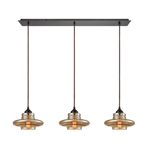 Elk Lighting Elk Lighting Orbital Oil Rubbed Bronze Multi-Light Pendant 10535/3LP