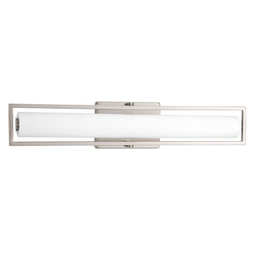 Progress Lighting Frame Brushed Nickel LED Bathroom Light - Vertical or Horizontal Mounting P2782-0930K9