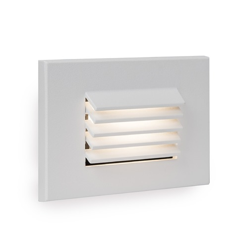 WAC Lighting LED Low Voltage Horizontal Louvered Step and Wall Light 4051-30WT
