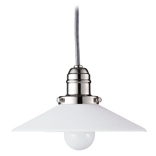 Hudson Valley Lighting Mini-Pendant Light with White Glass 3101-PN-008