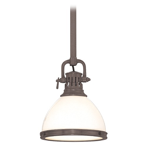 Hudson Valley Lighting Mini-Pendant Light with White Glass 2621-HB