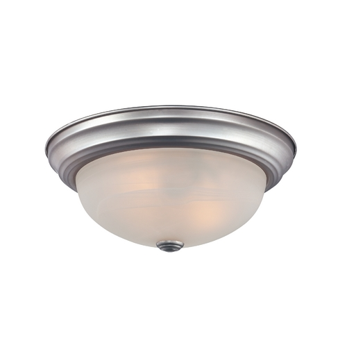 Quoizel Lighting Flushmount Light with White Glass in Palladian Bronze Finish MNR1611PN