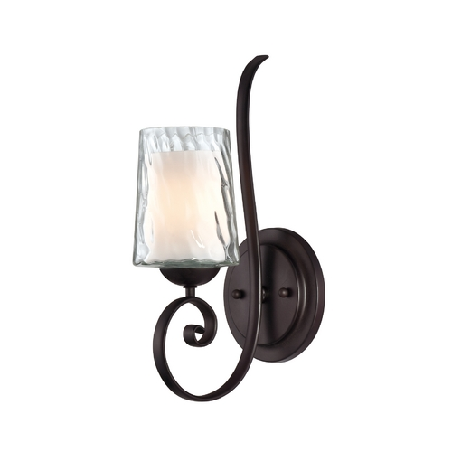 Quoizel Lighting Sconce Wall Light with White Glass in Dark Cherry Finish ADS8701DC