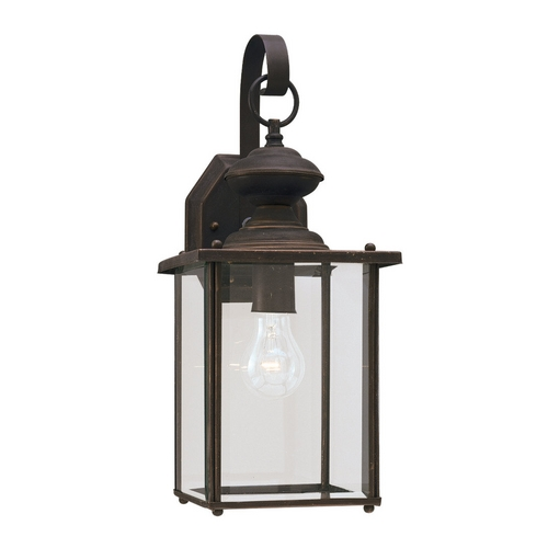 Sea Gull Lighting 17 inch Outdoor Antique Bronze Wall Light with Clear Glass 8458-71