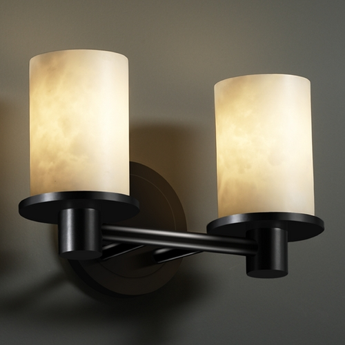 Justice Design Group Justice Design Group Clouds Collection Bathroom Light CLD-8512-10-MBLK