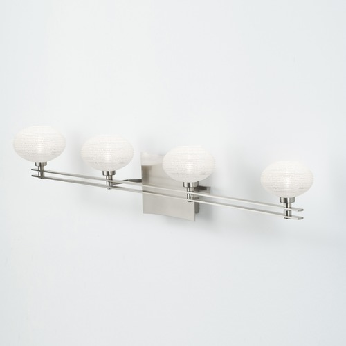 Holtkoetter Lighting Holtkoetter Lighting Ludwig Series Satin Nickel Bathroom Light 5584 SN G5036