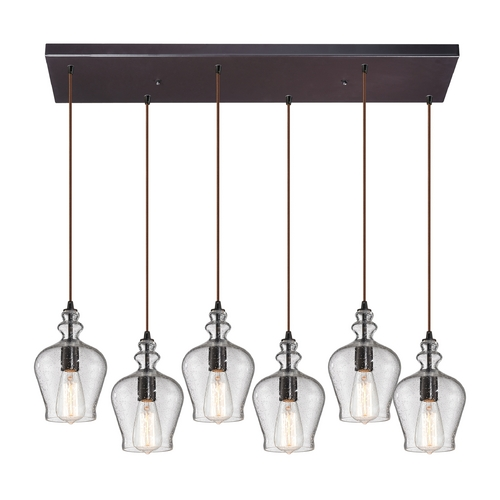 Elk Lighting Multi-Light Pendant Light with Clear Glass and 6-Lights 60066-6RC