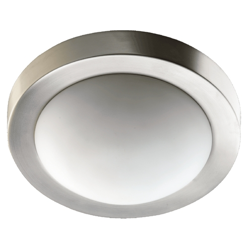 Quorum Lighting Quorum Lighting Satin Nickel Flushmount Light 3505-11865