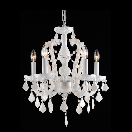 Avenue Lighting Avenue Lighting Casablanca Way White Crystal Chandelier HF1037-WHT