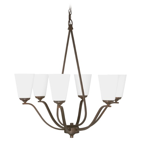 Capital Lighting Capital Lighting Braxton Burnished Bronze Chandelier 4956BB-122