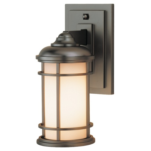 Feiss Lighting Outdoor Wall Light with White Glass in Burnished Bronze Finish OL2200BB