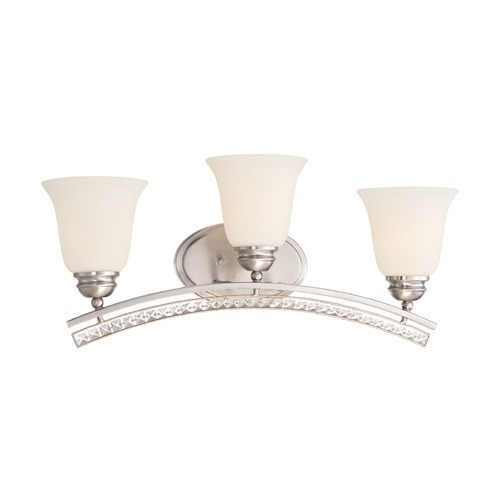 Designers Fountain Lighting Designers Fountain Grand Plazza Satin Platinum Bathroom Light 85703-SP