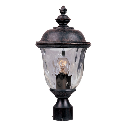 Maxim Lighting Post Light with Clear Glass in Oriental Bronze Finish 3426WGOB