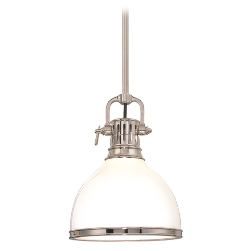 Hudson Valley Lighting Mini-Pendant Light with White Glass 2621-PN
