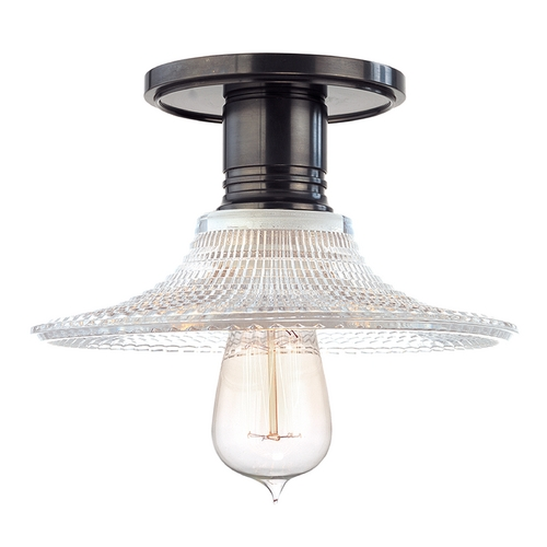 Hudson Valley Lighting Semi-Flushmount Light with Clear Glass in Old Bronze Finish 8100-OB-GS6