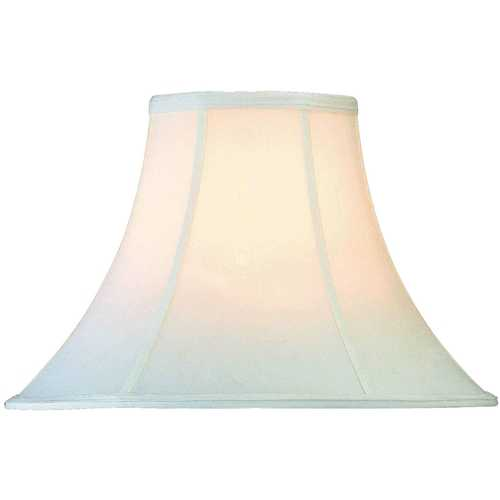 Lite Source Lighting White Bell Lamp Shade with Spider Assembly CH101-16