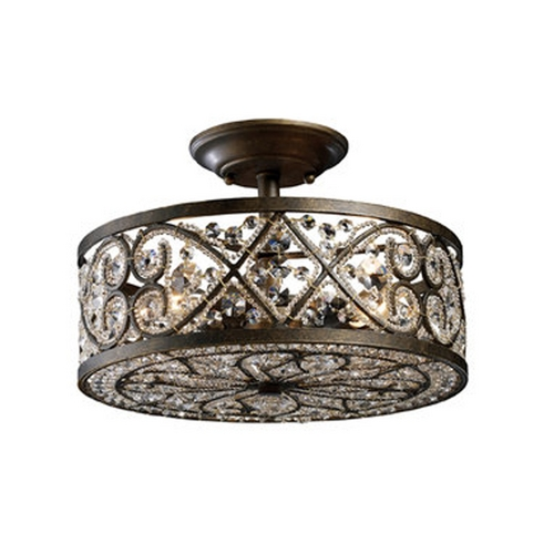 Elk Lighting Semi-Flushmount Light in Antique Bronze Finish 11286/4