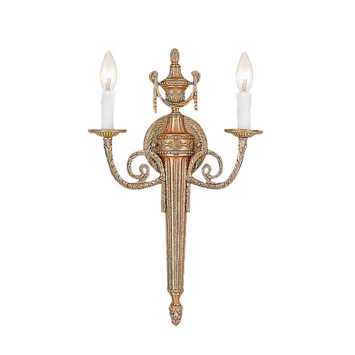 Crystorama Lighting Sconce Wall Light in Matte Brass Finish 662-MB