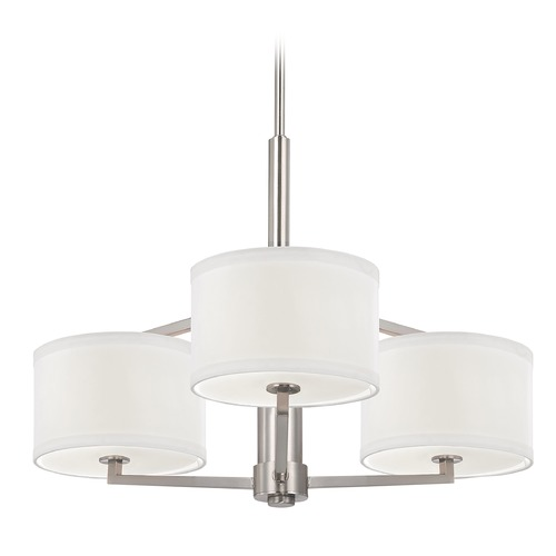 Dolan Designs Lighting Chandelier with Drum Shades - Three Lights 1887-09