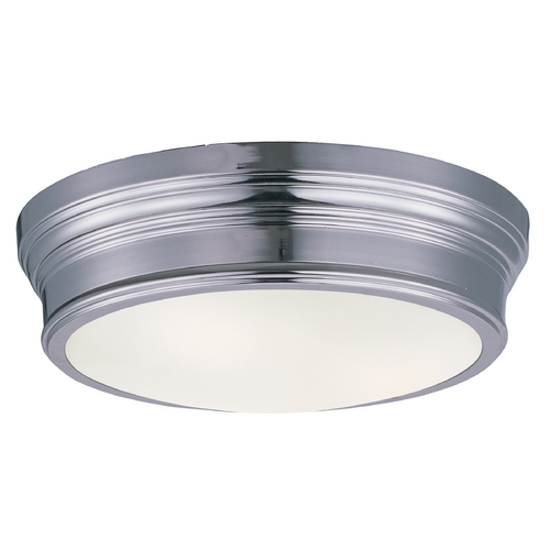 Maxim Lighting Maxim Lighting Fairmont Polished Nickel Flushmount Light 22370SWPN